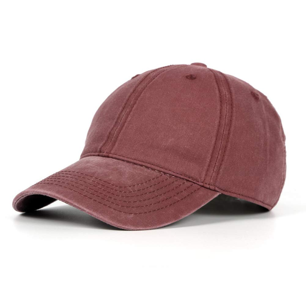 Vintage Cotton Washed Snapback Baseball Cap Sun Hat