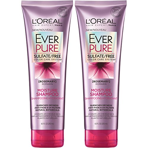 - L'Oreal Paris Hair Care EverPure Moisture Sulfate Free Shampoo for Color-Treated Hair, Moisturizes + Replenishes Dry Hair, 2 count (8.5 fl. oz. each)