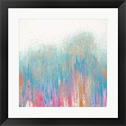 Bright Woods by Roberto Gonzalez Framed Art Print Wall Picture, Flat Black Frame, 20 x 20 inches ()