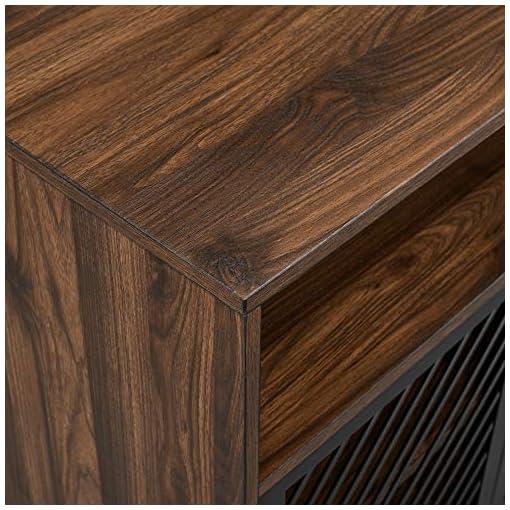 Kitchen Walker Edison Modern Metal Wood Buffet and Bar Cart Kitchen Dining Room Storage Cabinet Shelf Sideboard, 32 Inch, Dark… modern buffet sideboards
