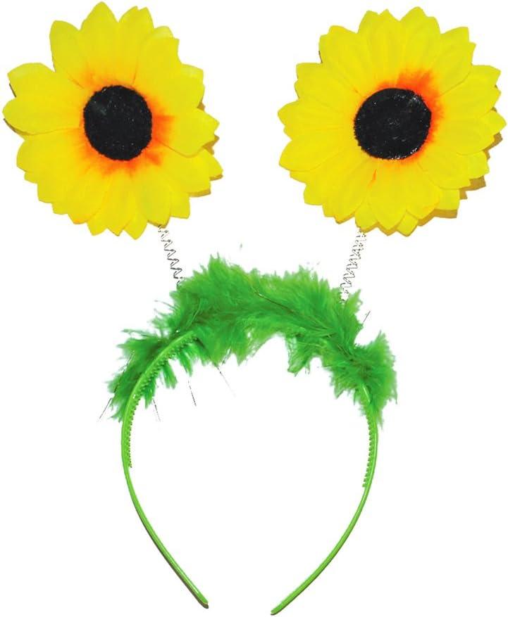 Diadema de girasol para jardinero o disfraz: Amazon.es: Juguetes y ...