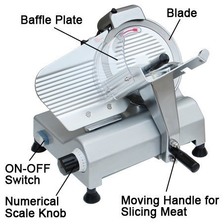 Amazon.com: Zeny Electric Deli Meat Cheese Food Slicer: Kitchen ...