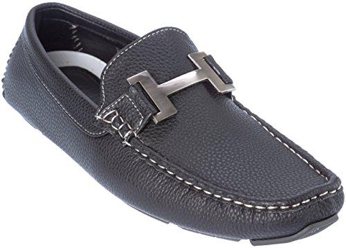 payne03 Mens Slip-On Loafer Black Dress-Shoes Size 9 by Brix