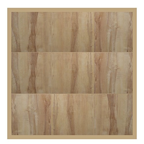 "Swisstrax ¾"" thick Interlocking ""Hardwood"" Floor Tiles w/ Edges & Corners (4' x 4' Pad) - Dance Floors, Office Areas, Event Floors & more! (Light Maple) by Swisstrax"