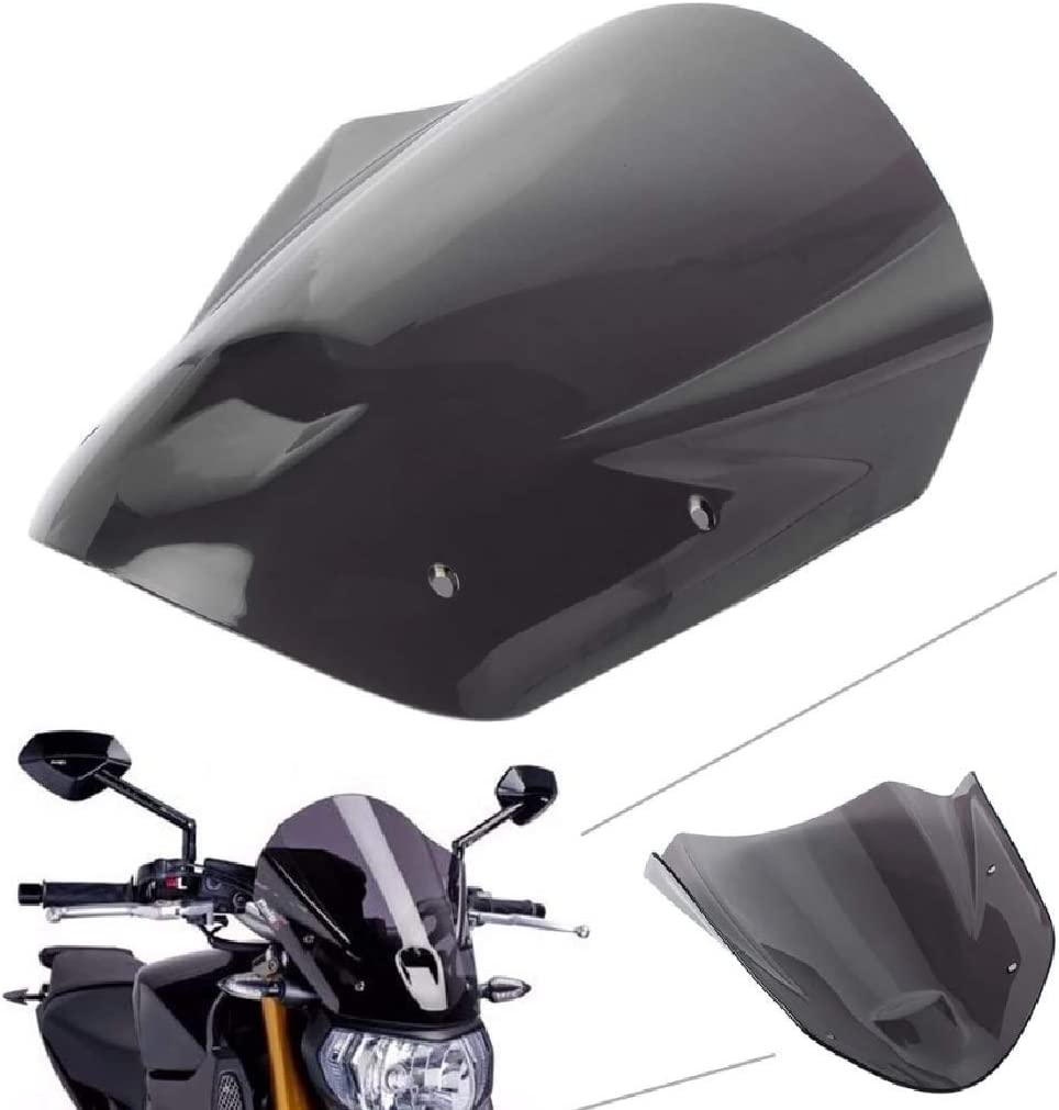 Gr/ö/ße 290 x 349 mm Almencla Motorrad Windschutzscheibe Windschild Verkleidung f/ür Yamaha MT09 MT-09 FZ-09 13-16