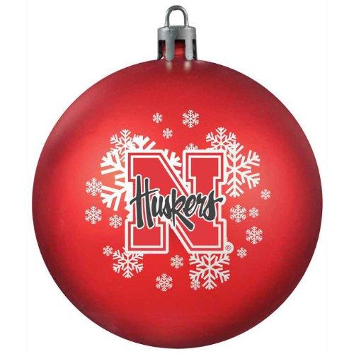 Nebraska Cornhuskers Santa - NCAA Nebraska Cornhuskers Shatterproof Ball Ornament