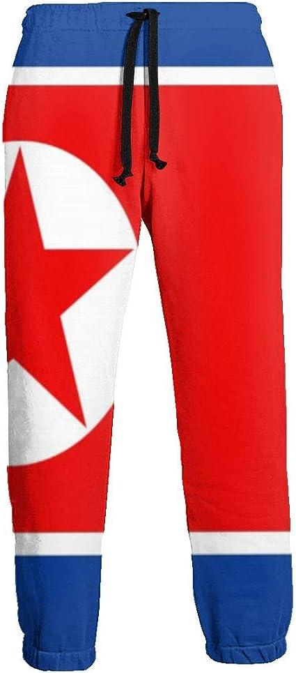Size M to XXL with Flag Print Black Korea Joggers Trousers Sweatpants