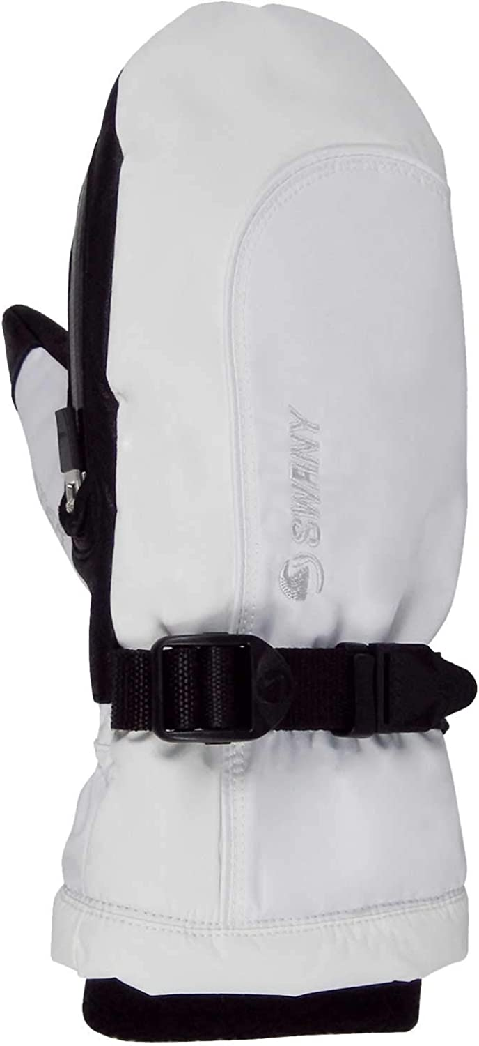 Swany Womens Softy Touch Screen Toaster Mitt, White, Small