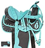 Acerugs Little Kids Full Size Western Quarter Horse OR Pony Saddle TACK Set PAD Barrel Racing Trail Riding