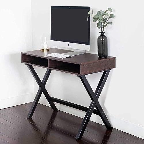 Nathan James 51001 Kalos Home Office Computer Desk or Console Table, Espresso
