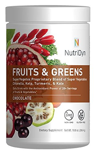 ens Chocolate Flavor *Certified Organic* w/ Acai, Gogi, Mangosteen, Noni & Pomegranate Super Fruits 300 Grams (Chocolate) by Nutri-Dyn ()