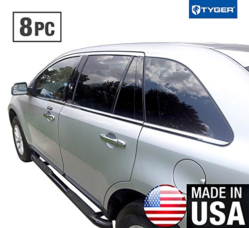 (Made In USA! Fit 07-2014 Ford Edge 8PC Stainless Steel Chrome Window Sill Trim)