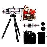 18X Telephoto Lens for iPhone - Yarrashop Telephoto Lens Telescope Camera Lens + Tripod + Phone Case + Velvet Bag + Cleaning Cloth for iPhone 8 plus/8/7 Plus/ 7/ iPhone 6s Plus/ 6s/ 6 Plus/ 6/ 5s/ 5