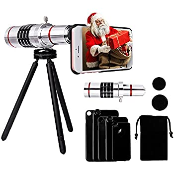 18X Telephoto Lens for iPhone - Yarrashop Telephoto Lens Telescope Camera Lens + Tripod + Phone Case + Velvet Bag + Cleaning Cloth for iPhone 8 plus/8/7 Plus/ 7/ iPhone 6s Plus/ 6s/ 6 Plus/ 6/ 5s/ 5