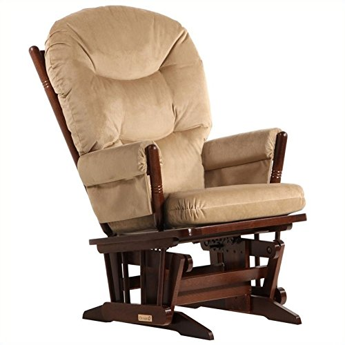Pemberly Row Glider in Coffee and Light Brown by Pemberly Row