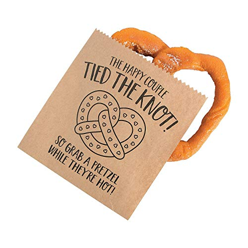 Pretzel Knot - Fun Express Tied The Knot Paper Pretzel Bags - 50 Pieces