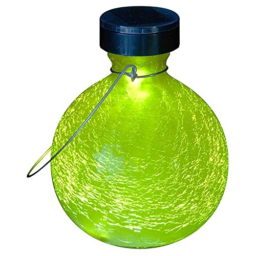 Crackled Goblet (Achla Designs Goblet Solar Lantern Garden Light,)