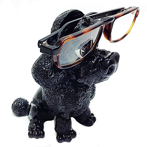 Black Poodle Dog Breed Novelty Eyeglass Holder Stand by Distinctive Designs