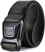 Mens Sports Belt,Bulliant Tactical Belt Stretch Nylon Web Belt For Mens Golf Casual Outdoor,Quick Release