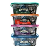 Blue Buffalo Wilderness Grain-Free Trail Tubs Stew Variety Pack - 4 Flavors (Chicken - Duck - Beef - and Turkey) - 8 Ounces Each (8 Total Tubs)
