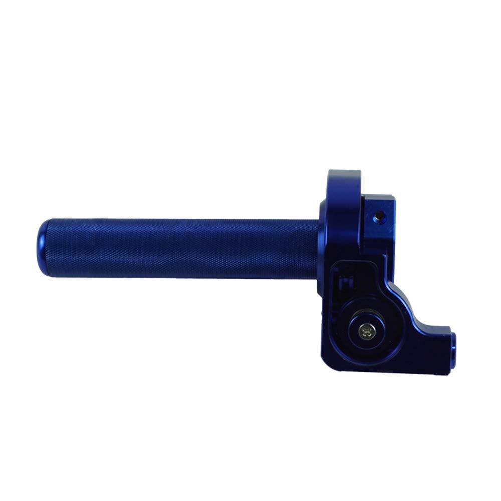 CONGJIEUS Parts 22mm CNC Off-Road Motorcycle car Modified Big Oil Big Screw Oil line Aluminum Throttle Grip (Color : Blue)