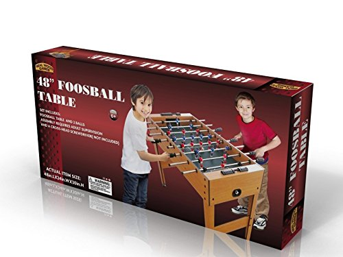 Homeware Foosball Table 48 Inch Playing Surface with Legs/Levelers, Brown