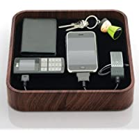 Bluelounge Design TS-01-DW The Sanctuary Charging Station - Charger - Retail Packaging - Dark Wood