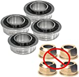 (4 Pack) Sears Craftsman 532009040 Front Wheel Bushing to Bearing...