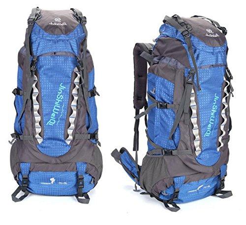 Pack mochila exterior nueva gran capacidad mochila al aire libre los hombres y las mujeres 80 litros escalada , orange Blue
