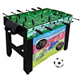 Hathaway Playmaker 3-in-1 Foosball Multi-Game Table with Soccer and Hockey Target Nets for Kids