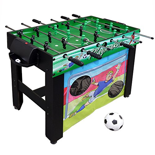 Hathaway Playmaker 3-in-1 Foosball Multi-Game Table with Soccer and Hockey Target Nets for Kids from Hathaway