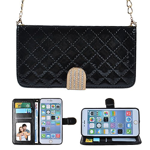 For iPhone 6 6S Plus 5.5 Black Wallet Purse Case, ICE FROG...