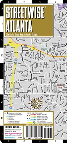 Streetwise Atlanta Map - Laminated City Center Street Map of Atlanta ...