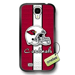 NFL Arizona Cardinals Team Logo Samsung Galaxy S4 Black Rubber(TPU) Soft Case Cover - Black