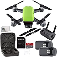 DJI Spark Quadcopter (Meadow Green) + DJI Spark Remote Essential Bundle