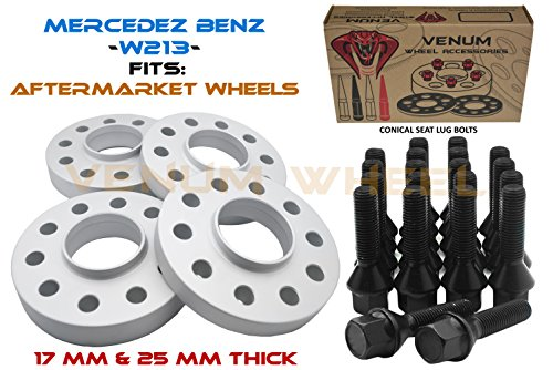 (4 Pc Staggered Mercedes Benz 5x112 Hub Centric Wheel Spacers 17 MM & 25 MM 1