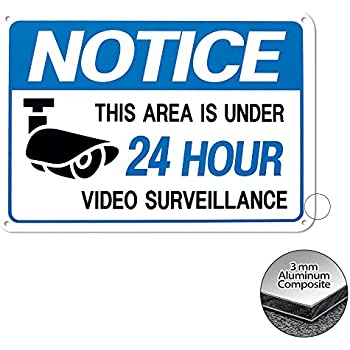 Amazon.com: VIDEO SURVEILLANCE Sign Property Protected 24 ...