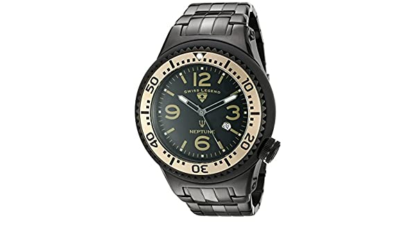 SWISS LEGEND NEPTUNE FORCE RELOJ DE HOMBRE CUARZO SUIZO 52MM 21819P-BB-11-BG: Amazon.es: Relojes