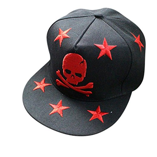[Iuhan® New Skeleton Head Embroidery High Quality Hip-Hop Baseball Cap (Red)] (1920s Beach Costume)