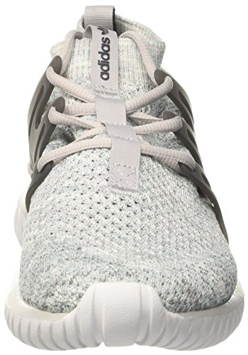 Adidas Original Mens Sneaker Adidas Tubular Nova Grigio Con Filato Glow-in-the Dark 9 (uk) -9½ (us) Grigio
