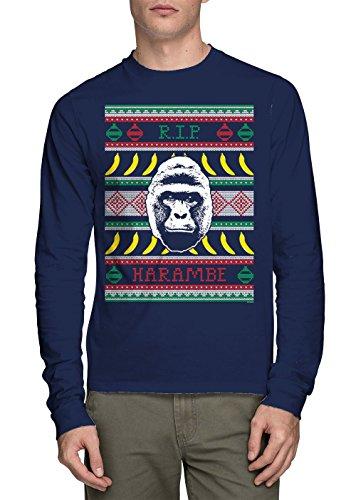 Long Sleeve Mens RIP Harambe - Ugly Christmas Sweater T-shirt ...