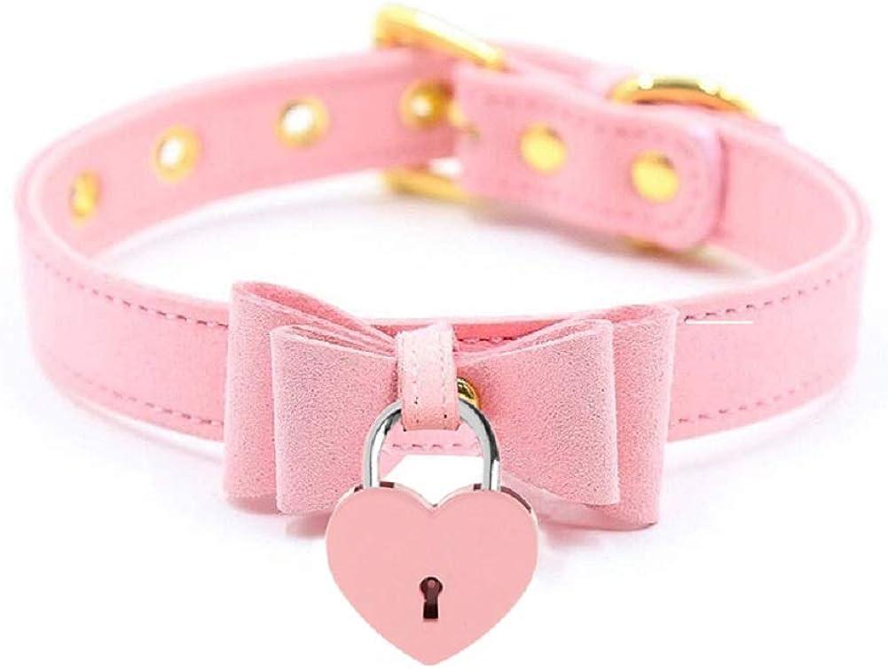 PU Leather Bow Collar...