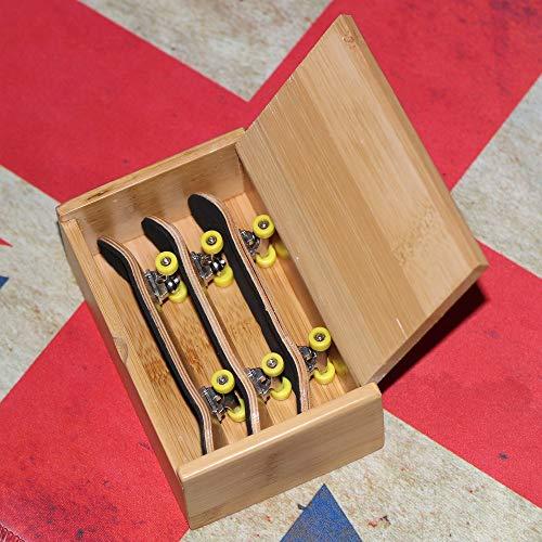 Zerdhey Maple Finger Scooter Board Skateboard Skate and Box Fingerboard Novelty Toys for Children