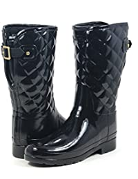 Original Refined Short Quilted Black Gloss Boot