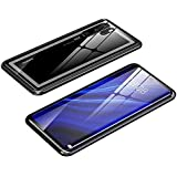 For Huawei P30 Pro Magnetic Case, Magnetic Adsorption Technology Metal Frame Case Aluminum 9H Tempered Glass Back Cover…