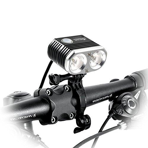 ITUO Led Bike Headlight,Rechargeable&Waterproof Bike Light, 1500 Lumens Neutral White(6800mAh Battery Pack), Mountain Bicycle Headlight (Wiz Headlamp)