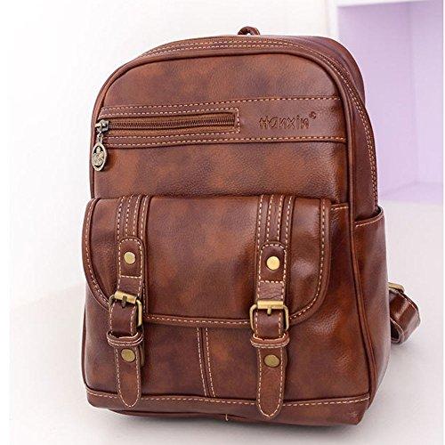 Bag Brown Vintage Handbag School Backpack Satchel Women DELEY Tote Shoulder 4fqXfz