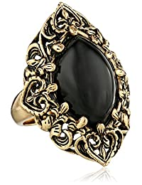 "Barse""Guinevere"" Ornate Onyx Ring"