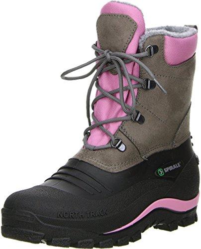 Spirale Damen Winterstiefel Snowboots Schwarz/Braun/Rosa Rosa