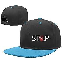 Cute Hand Print Gun Stop Violence Cap Hip-hop Baseball Cap Boys Snapback Red